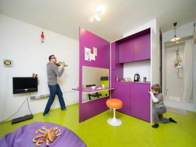 Small-Apartment-with-Cheerful-Interior-Design-by-Jakub-Szczesny-Architect