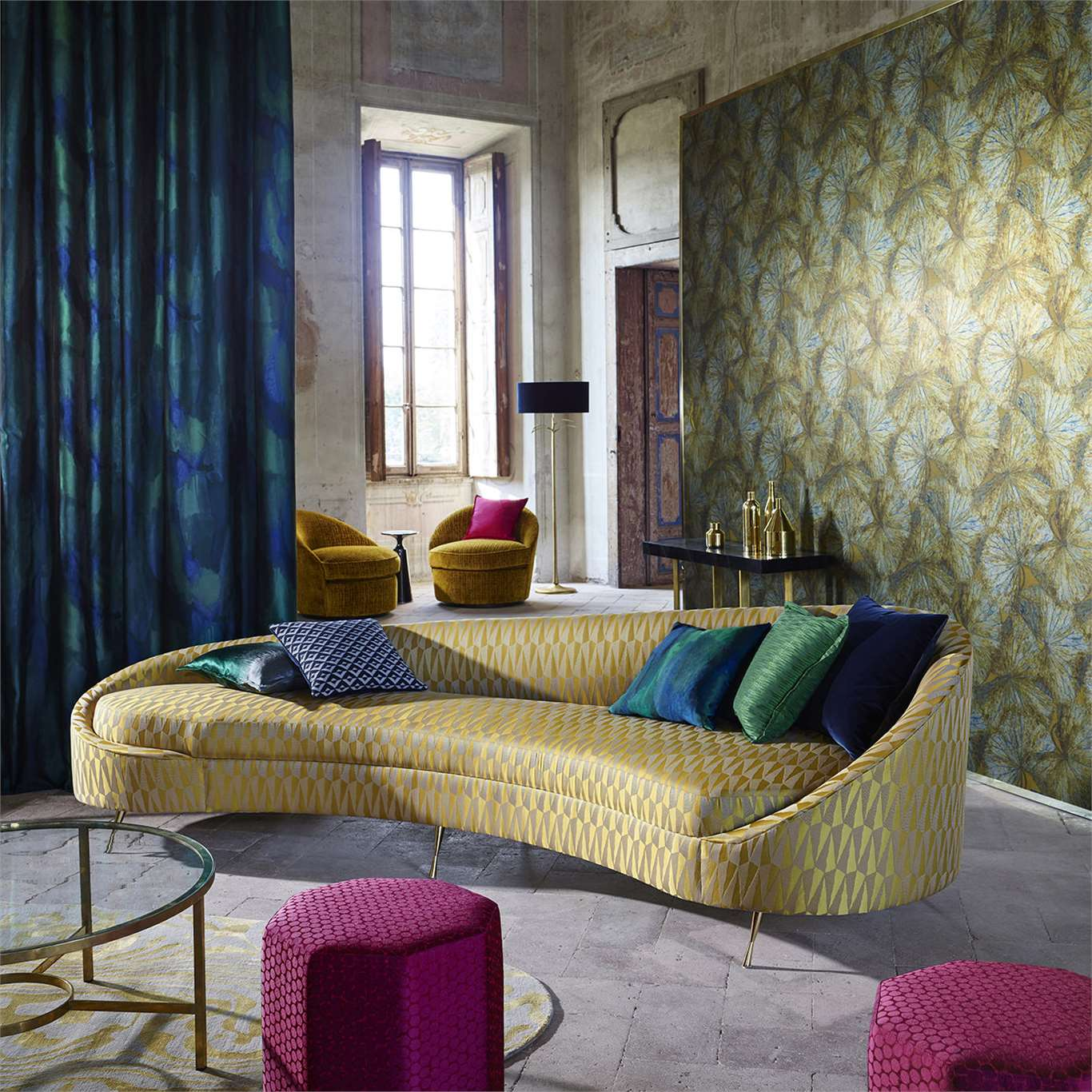 Zoffany TheMuse collection ConwayPoison designtapeta